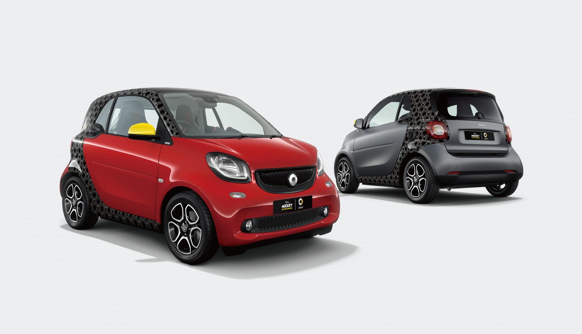 メルセデス・ベンツ日本、ミッキーマウス90周年記念の特別仕様車「smart fortwo edition / MICKEY THE TRUE ORIGINAL」を発表